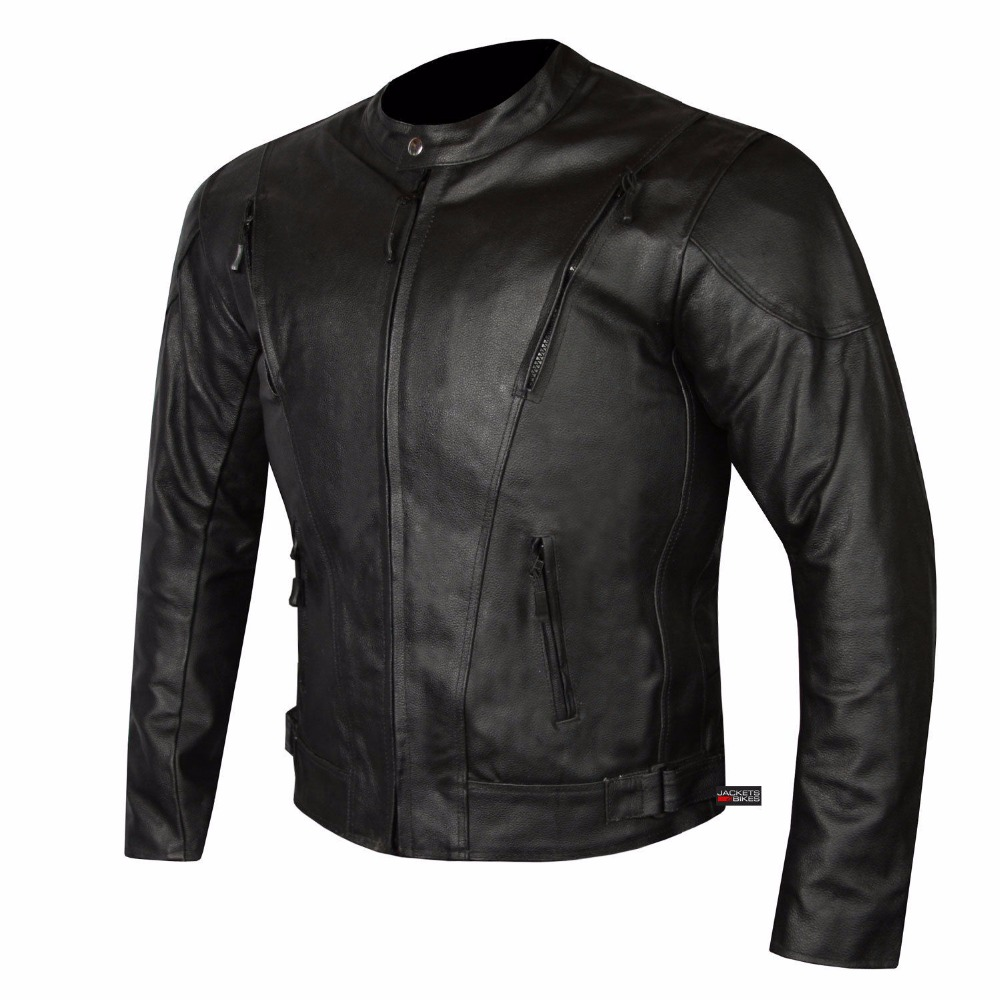 Fashion design genuine motorcycle leather jacket for men