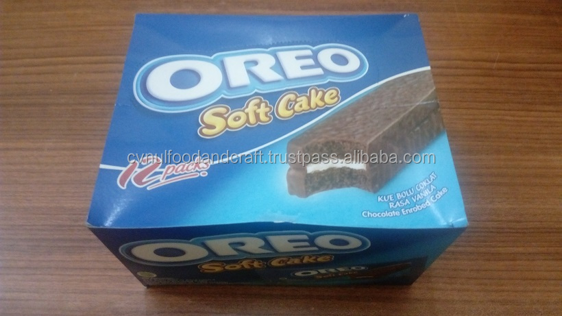 Soft Cake Oreo Chocolate and Vanilla Flavor Indonesia Origin 192 g (12x16g)