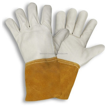 TIG Welding WELDERS Hands Work Soft Cowhide Leather Gloves/Best quality by taidoc