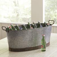 Oval Galvanized Beverages Ice Buckets