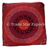 Mandala Cushion Cover Floor Pillow Box Dog Bed Luxury Cotton Printed Pet Bed