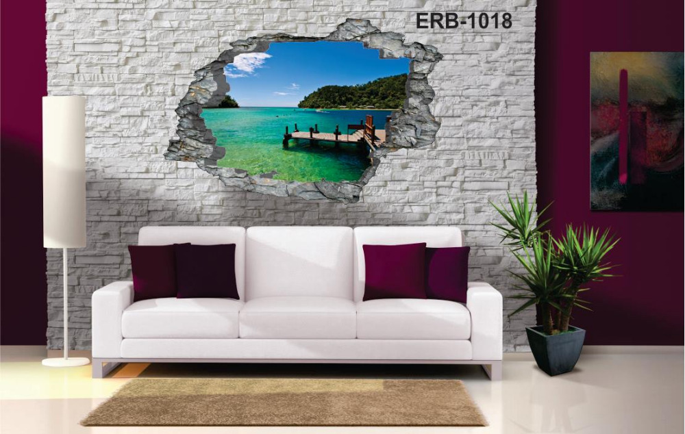 removable 3d vinyl wall art , room decor, 4.5*3 feet size