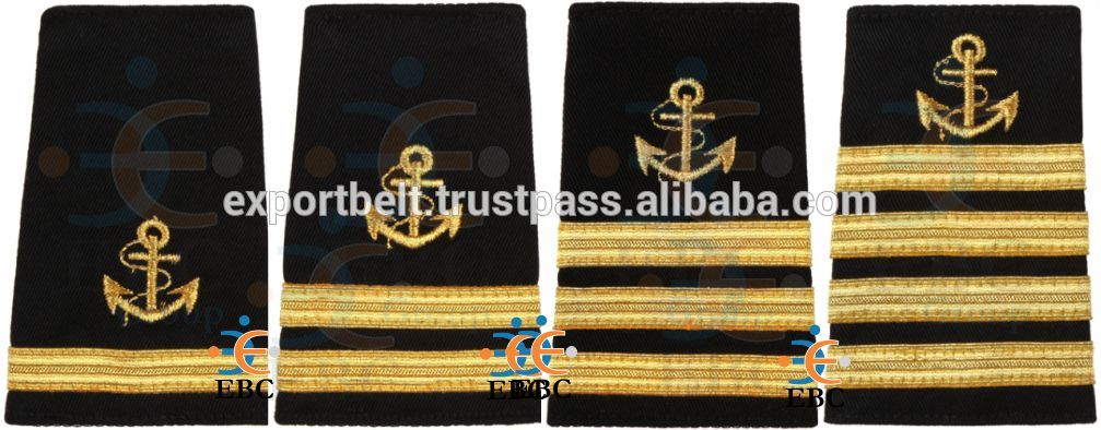 Epaulets and rank stripes for pilot uniforms and pilot shirts, Catch Me If You Can epaulets rank insignia