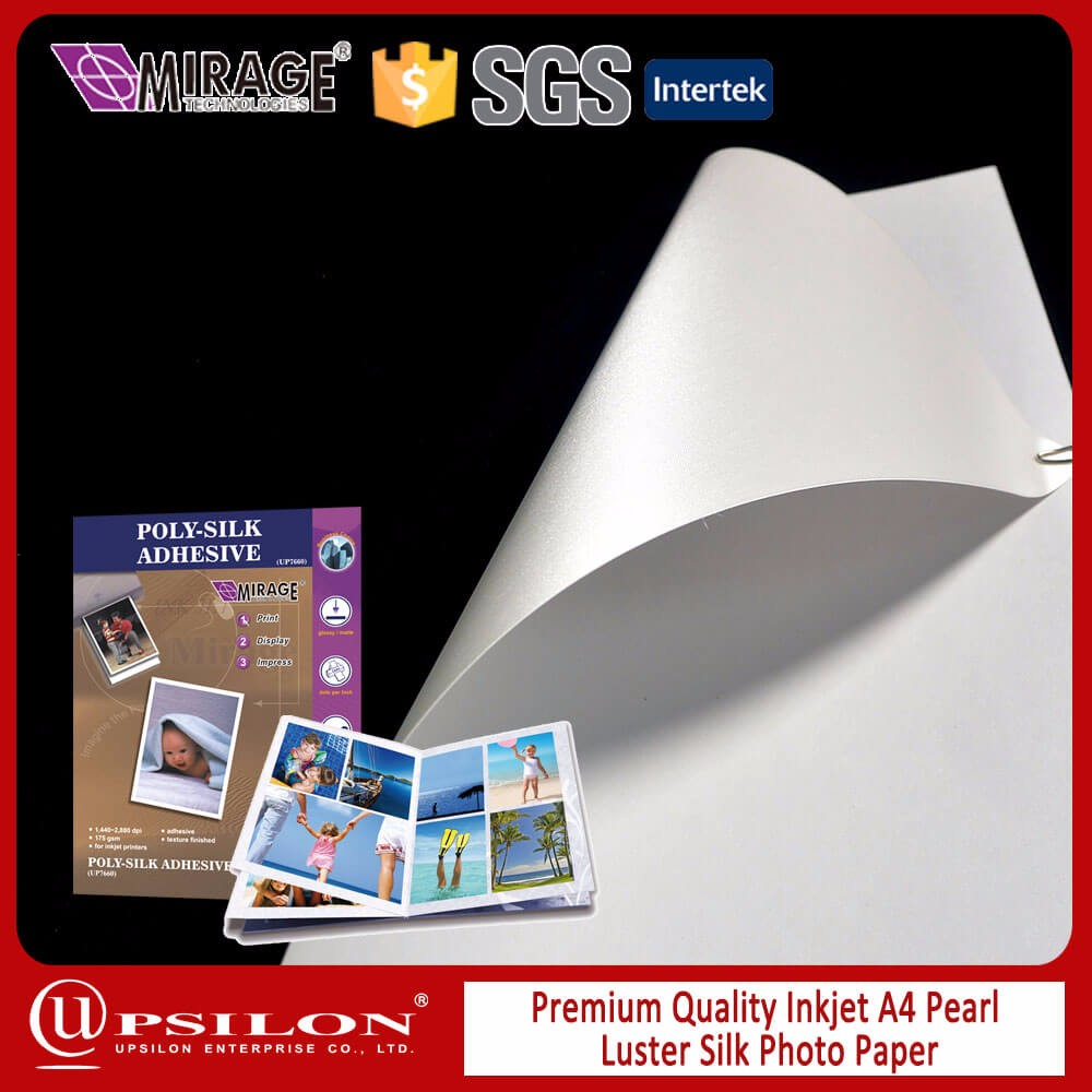 Flat Soft Inkjet Adhesive Poly Silk Paper Sheets