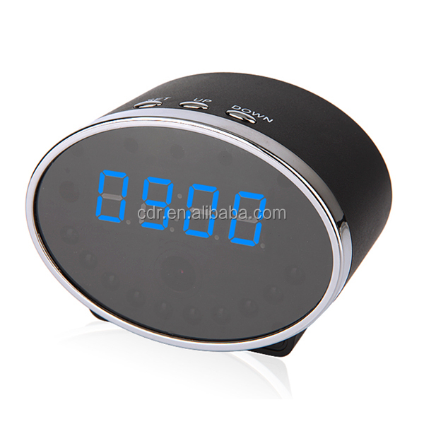 1080P Night Vision Camera Supports 32GB Micro SD Card Table Clock Wifi Hidden Camera YM-W030