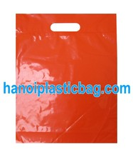 TURN OVER TOP ORANGE HDPE DIE CUT HANDLE PLASTIC BAG