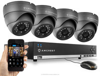 Amcrest 4CH 960H Security System DVR with Pre-Installed 500GB HDD and 4 x 800+ TVL Dome Cameras