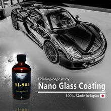 Quick and easy apply KISHO nano car glass coat with hydrophobic made in Japan