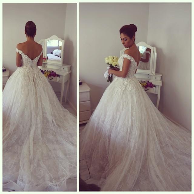 yasa5089 sexy see through bridal dress satin puffy dress