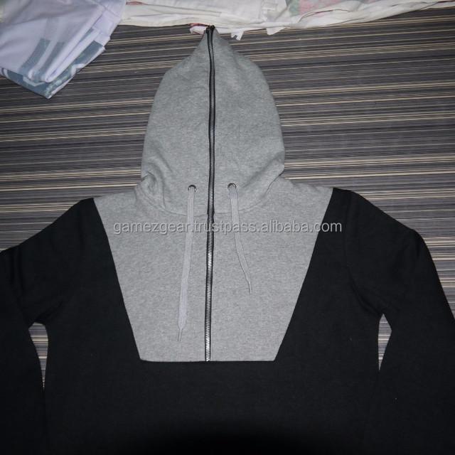 black white hoodies 1/2 zipper