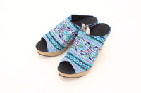 Hill Tribe Vintage Fabric Casual Platform Shoes Thailand