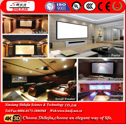 "100"" Manual Matte White Projector Screen"