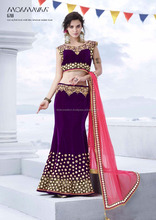 WINE COLOR LEHENGA WITH MAJESTIC MIIROR WORK . IT IS ACCOMPANIED BY A SEMI STITCH BLOUSE AND CRAPE SILK INNER.