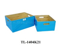 Set of two Vietnam Rectangular Bamboo Storage Boxes (TL-1404K21)