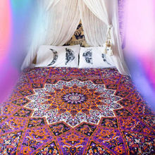 Psychedelic Indian Star Mandala Tapestry Wall Decor Hippie Twin Bedspread Throw Dorm DECOR MOST SELLING COLOR