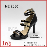Party Wear Ladies Black High Heels Shoes from Malaysia