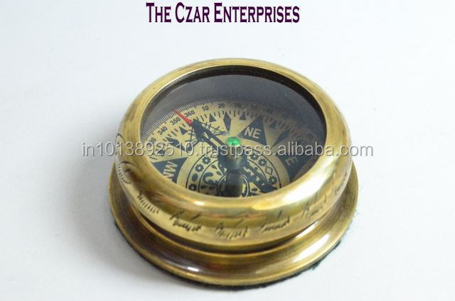 Brass antique compass mughal compass lens compass gift item