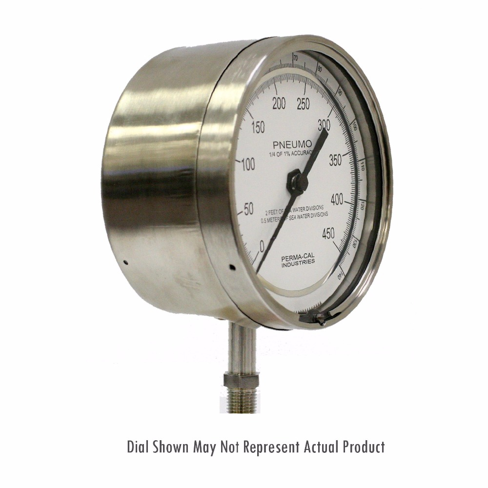 Depth Gauges and Pneumo Gauges - 201S Series - Stainless Steel - Perma-Cal Direct Drive Pressure Gauge