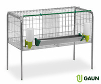 Cage for fattening chickens 2 compartments