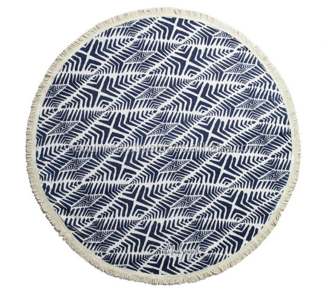 Popular Australian Perfect printed round beach towel softtextile