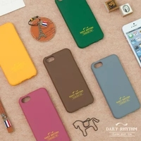 Daily soft jelly cell phone case / Pink, Yellow, Gray, Brown, Green 5 colors/mobile phone silicon case 2016