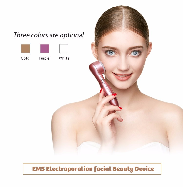Ultrasound skin care led light ems face lifting massager