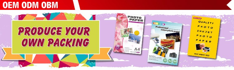 Wholesaler Glossy Inkjet Sticker Photo Paper