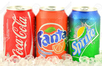 Cola fanta sprite flavor compressed candy in can packing