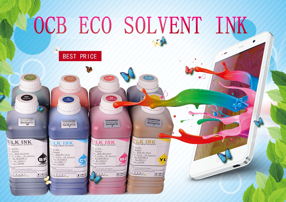 Ocbestjet Bulk digital eco solvent printing ink for epson DX5 DX6 DX7 print head