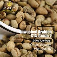 ARABICA COFFEE - GREEN COFFEE BEANS, UNWASHED IN HIGH GRADE 2-SCREEN 14