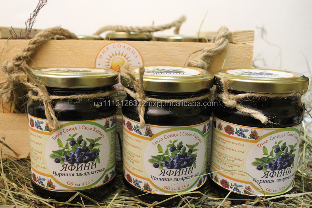 Blueberries without boiling with Carpathian Mountains