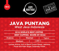 Specialty Coffee - Java Puntang, Best SCAA's Coffee 2016