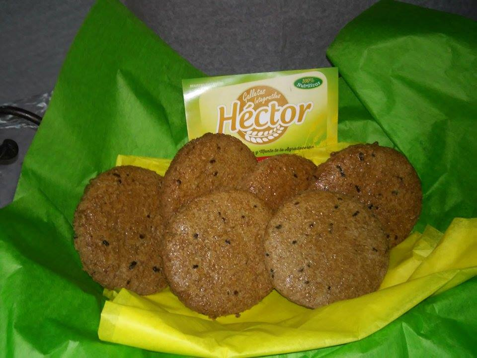 Galleta 100% integral sabor chocolate