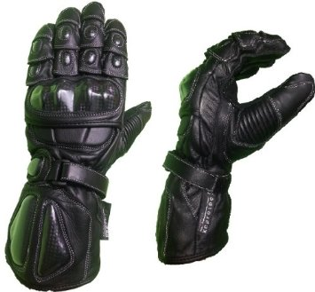 NEW LEATHER MOTORBIKE MOTORCYCLE STEEL GLOVES