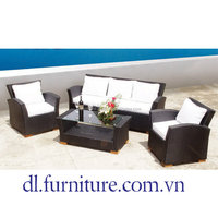 Outdoor garden living room PE rattan/wicker/cane durable round day bed with canopy poly rattan day bed promotion items