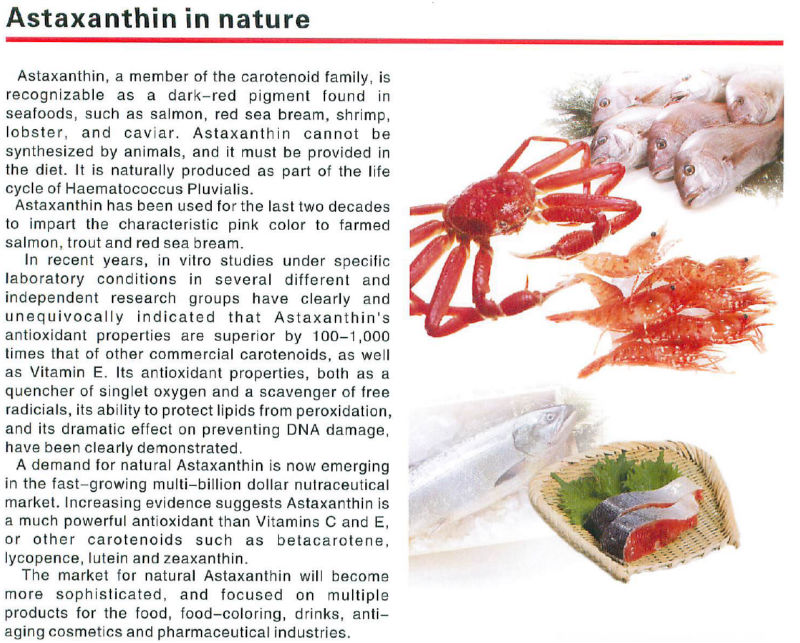 Japanese Natural Astaxanthin Powder As Antioxidant For Health Foods For Eye Health, Preventing Diabetes, Improving Immune System