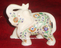 White Inlay Elephant