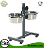 Stainless Steel Adjustable Dog Food Stand Diner Multiple Sizes