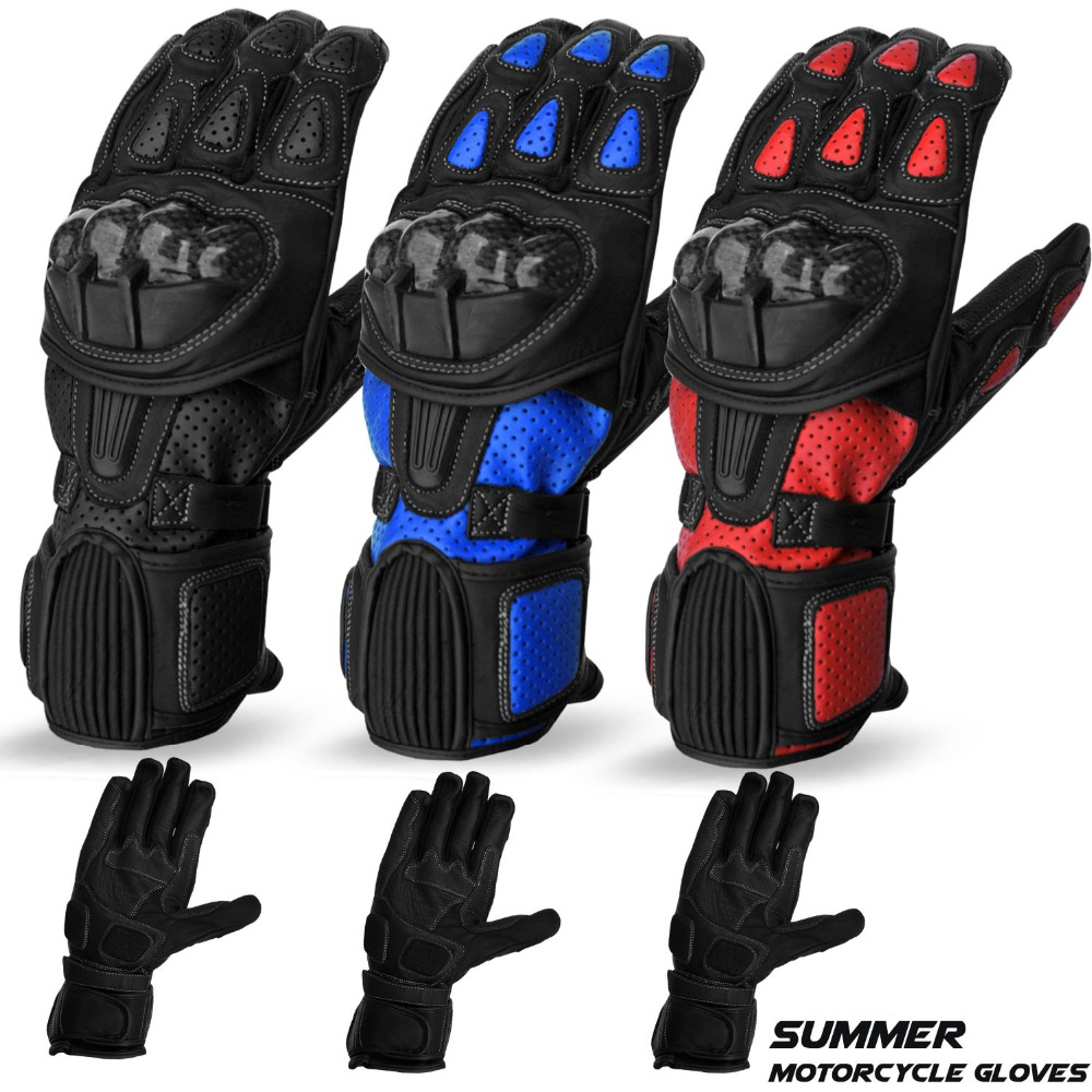 Motorcycle Gloves Cowhide Leather Bikers Glove Motorbike Kevlar Protection