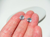 Blue Topaz Loose Round Faceted Cut Gemstone, Cut Stones