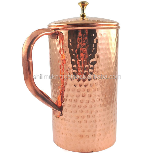 Copper Pitcher Copper Water Jug India Fitness water drinking Mug Pure Copper Filter water Pot