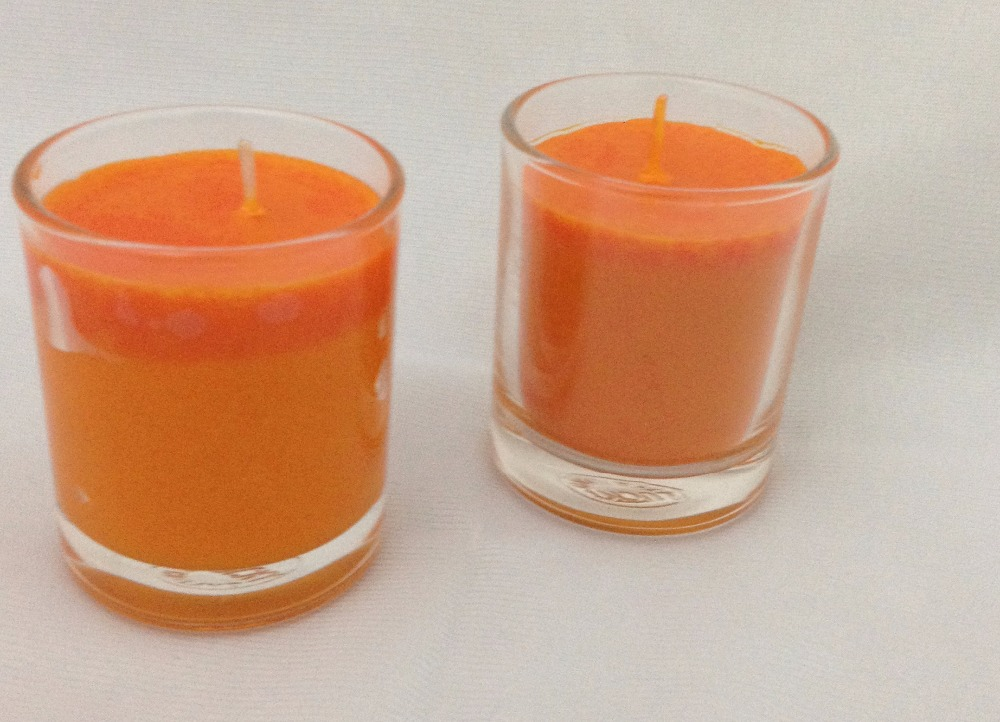 Glass Citronella candle
