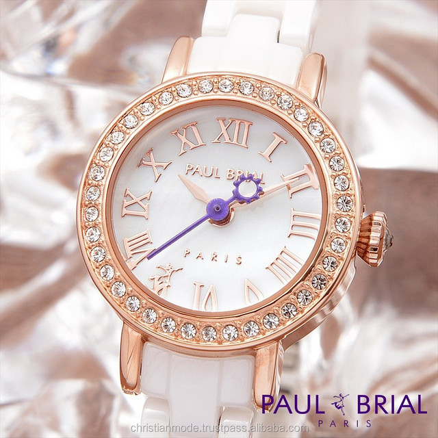 Lady Jewelry Watches Ceramic Water Resistant 30m Paul Brial South Korea Made