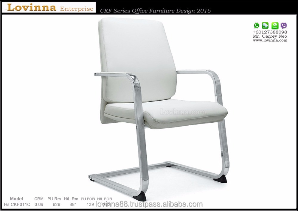 Factory Hot Sales White Leather Office Chair Model Hs CKF011C , Johor Leather Chair, Malaysia Office Chair, Sabah Office Chair,