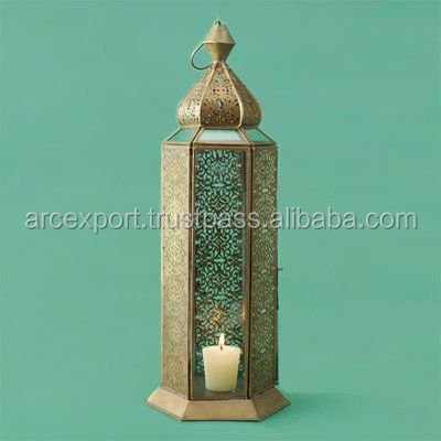 gold plated morrocane antique metal fancy home decor lantern