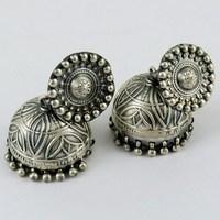 Vintage !! Oxidized Plain Silve 925 Sterling Silver Earring, Vintage Silver Jewelry, 2016 Fashion Silver Jewelry