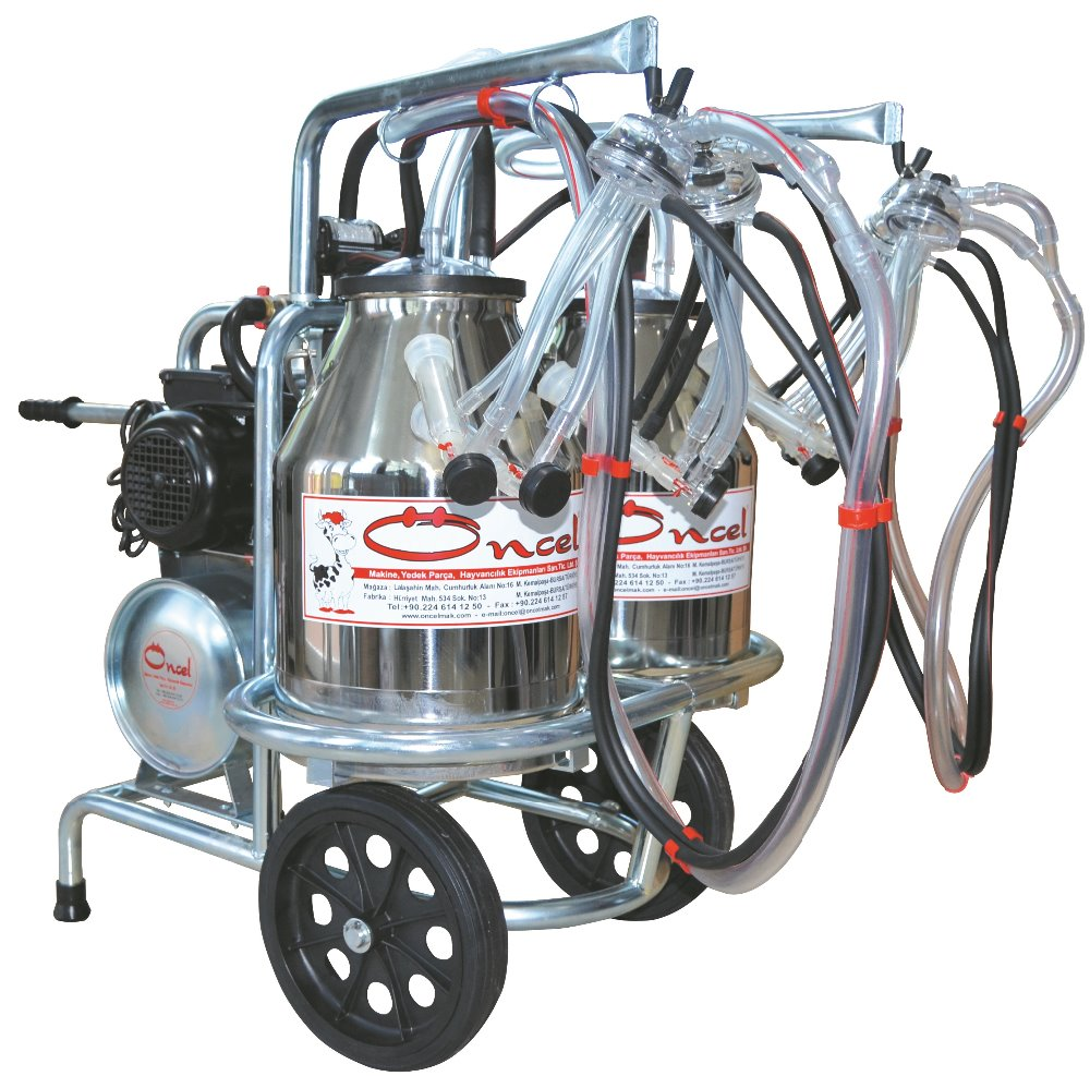 MILKING MACHINE-PORTABLE-FOR SHEEP MILKING-4 MILKING UNITS-DOUBLE SS BUCKETS-OC.1013-5