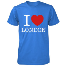 Wholesale I Love London 100% Cotton Custom T Shirt 20 Colours
