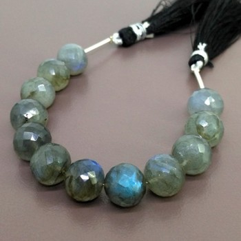 Labradorite Faceted Round Shape Bead Strands