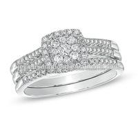 1/2 CT. T.W. Diamond Cl Engagement Diamonds Jewelry 14 KT White Gold Jewellery Wedding Ring 10K Gold Rings